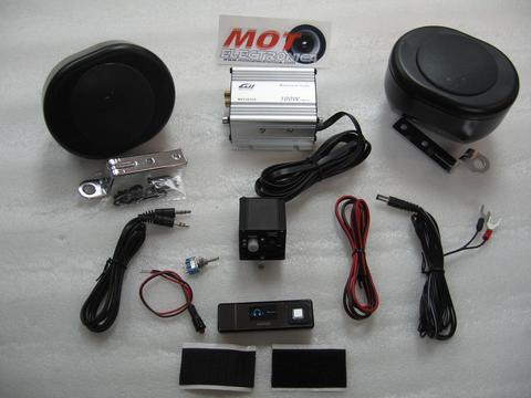 KIT AUDIO SCOOTER NEGRO CON MP3