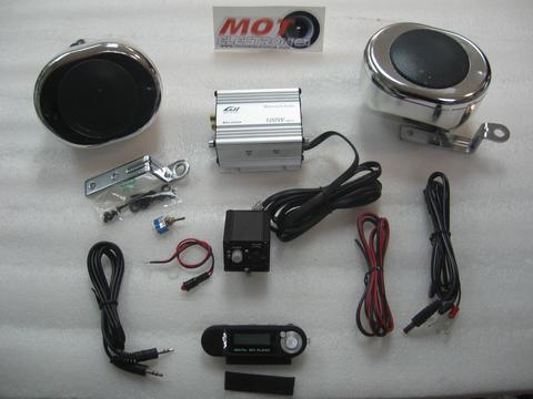 KIT AUDIO SCOOTER CROMADO CON MP3
